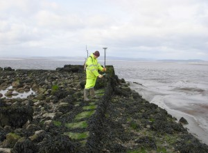 Surveying Hest Bank Jetty