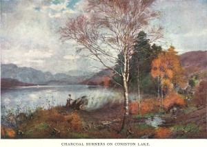 Coniston Lake Charcoal Burners by Alfred Heaton Cooper