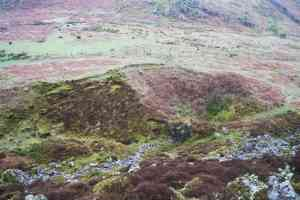 Opencast pit at the summit of Bangarth Mine, Eskdale