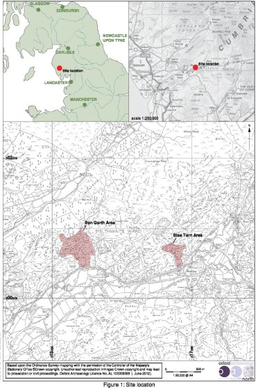 Eskdale Iron Mines, 2012 Survey Locations