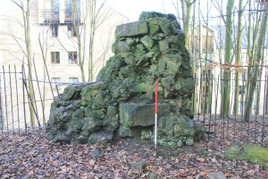 The surviving fabric on the west side of the Wery Wall bastion
