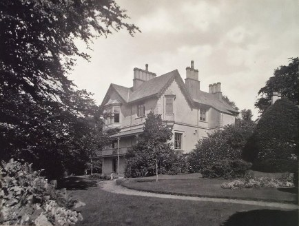 Late nineteenth century photograph of the house and formal garden, St Catherine's Estate