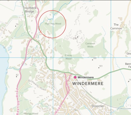 The location of St Catherine's Estate near Windermere