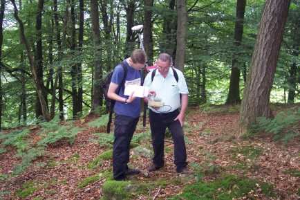 Training a volunteer in the dark arts of GPS survey