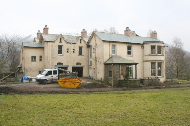 The house at Allan Bank, Grasmere, under renovation in January 2012