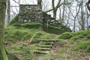 Stone viewing seat at Allan Bank, Grasmere